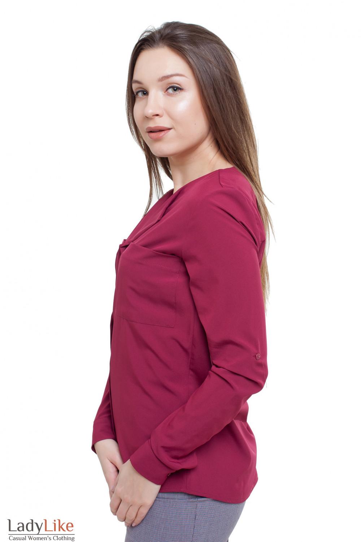 Блузка бордовая Деловая женская одежда фото