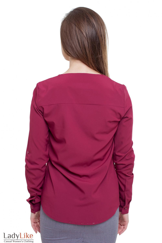 Блузка с карманами Деловая женская одежда фото