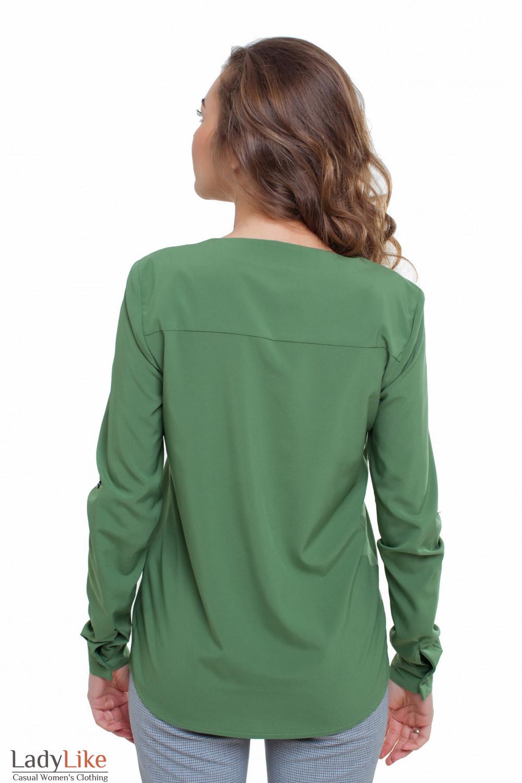 Блуза зеленая Деловая женская одежда фото
