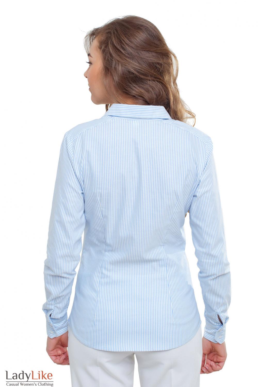 Блузка в полоску Деловая женская одежда фото