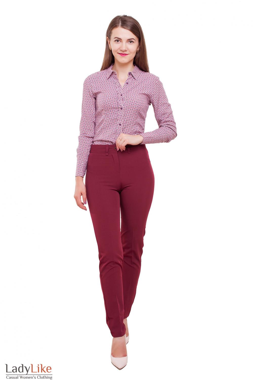 Блузка под брюки Деловая женская одежда фото