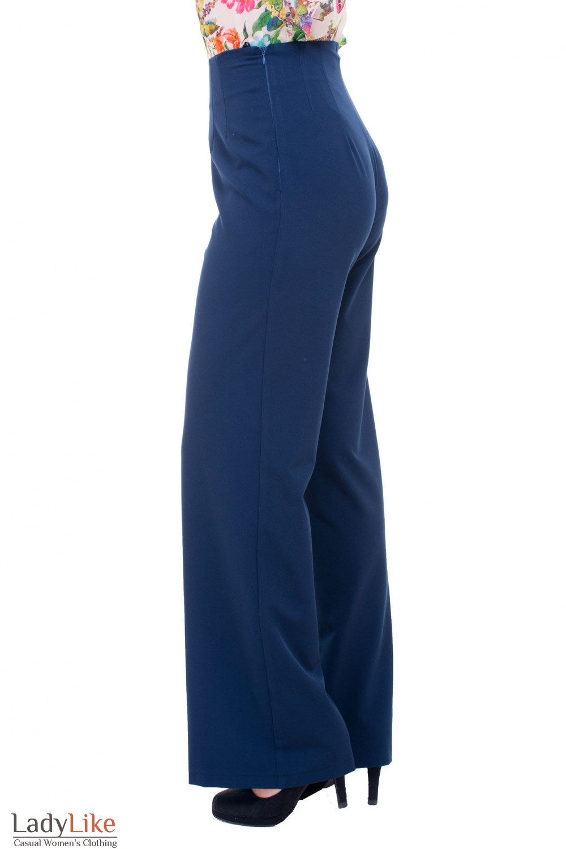 Купить женские брюки палаццо синего цвета Деловая женская одежда фото