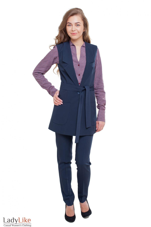 Костюм синий Деловая женская одежда фото