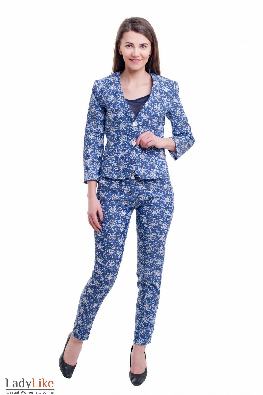 Купить джинсовый костюм Деловая женская одежда фото