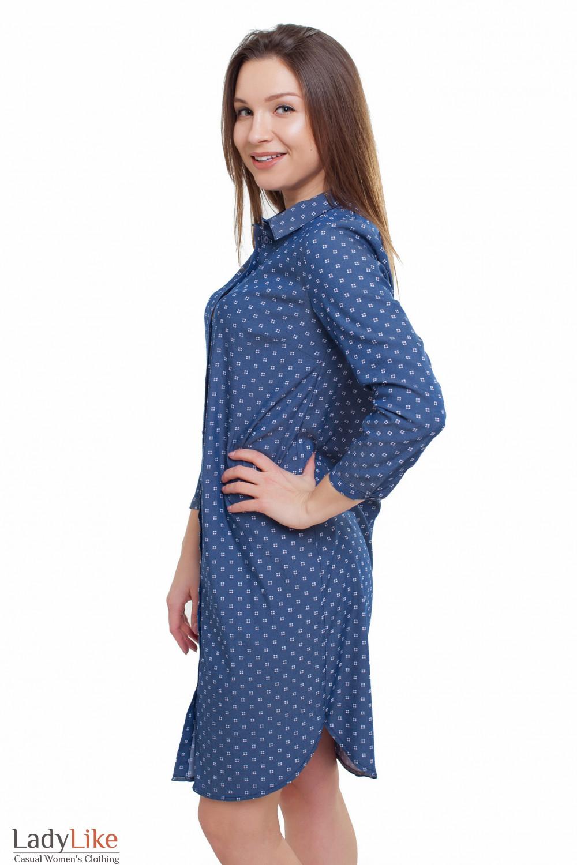 Платье синее Деловая женская одежда фото