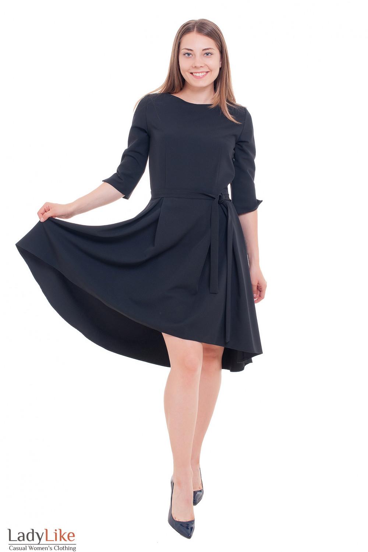 Платье с ассиметричной юбкой Деловая женская одежда фото