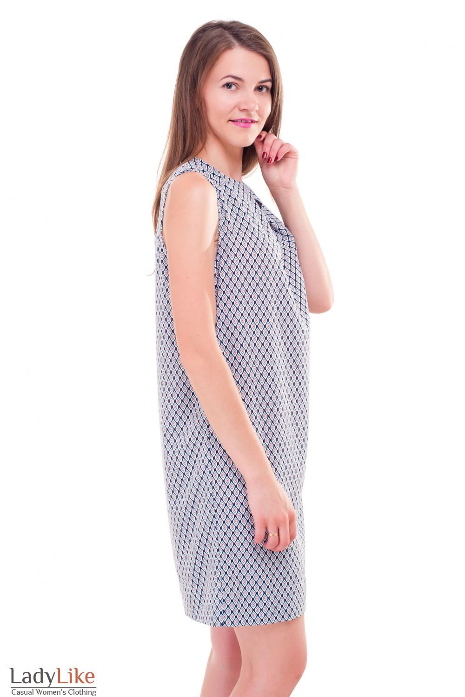 Купить платье с одним защипом на груди Деловая женская одежда фото