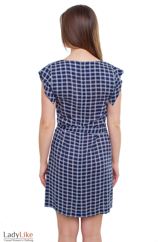 Платье в клеточку Деловая женская одежда фото