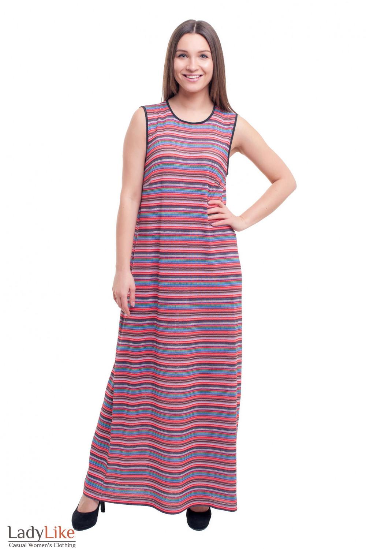 Платье летнее трикотажное в пол Деловая женская одежда фото