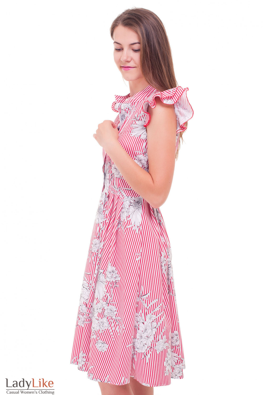 Купить платье в красную полоску Деловая женская одежда фото