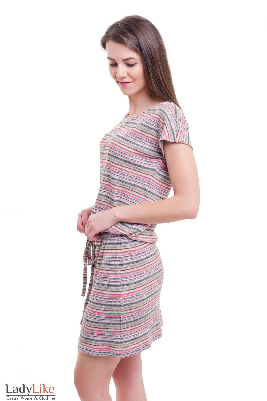 Купить трикотажное платье с кулиской Деловая женская одежда фото