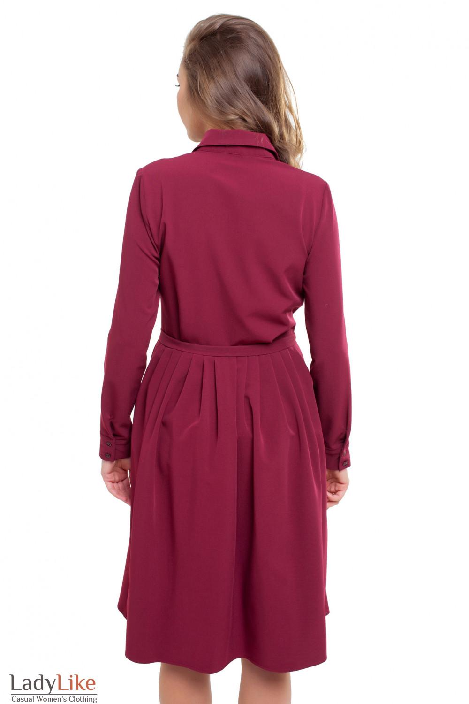Платье цвета марсале Деловая женская одежда фото