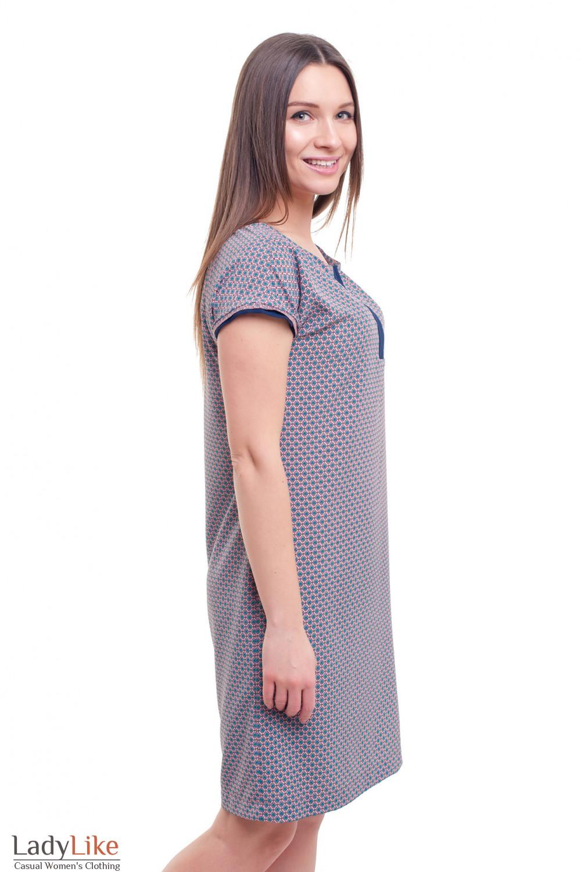 Купить летнее прямое платье в розовый узор Деловая женская одежда фото