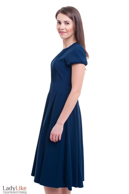 Купить пышное платье со складочками Деловая женская одежда фото