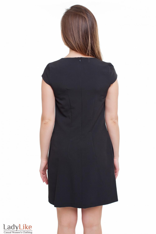 Платье черное Деловая женская одежда фото