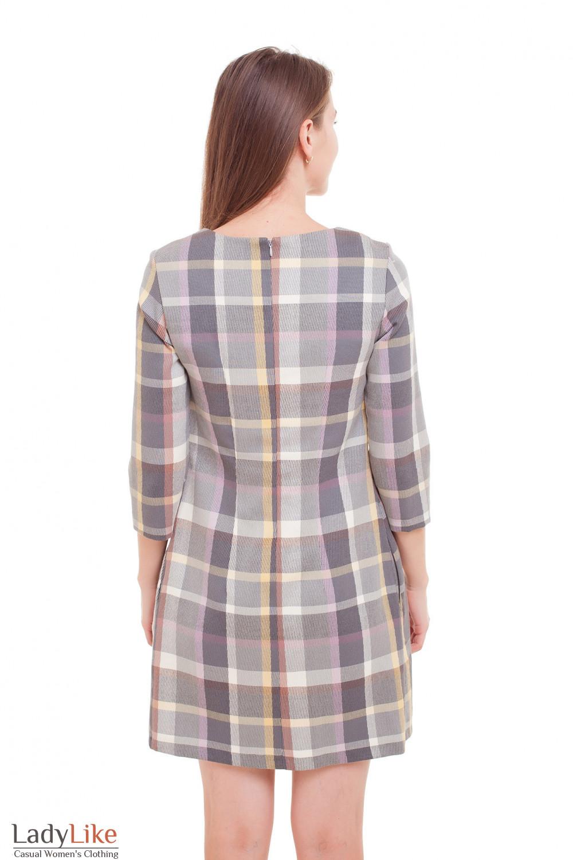Платье в клетку Деловая женская одежда фото