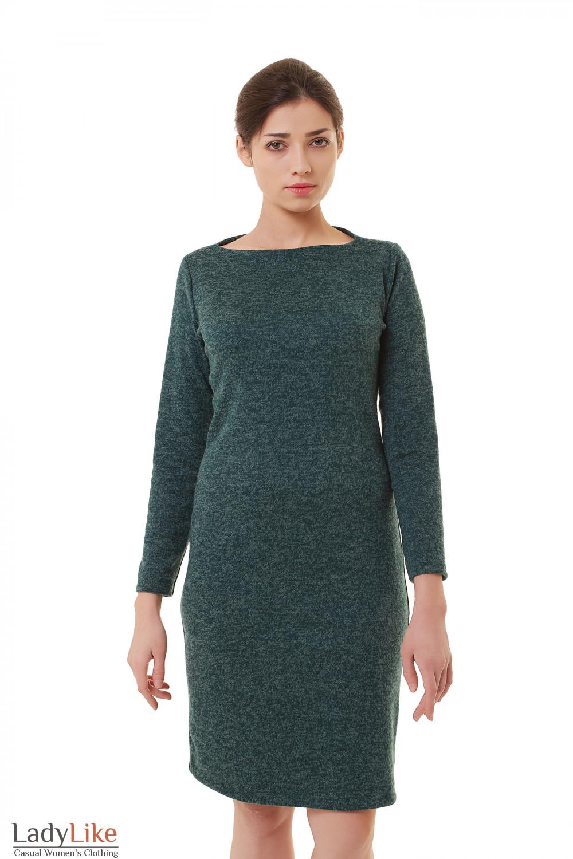 Платье зеленое трикотажное меланжевое — купить в интернет-магазине ... 75dc6689b73