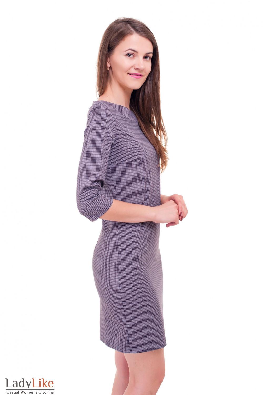 Купить строгое платье в красную клеточку Деловая женская одежда фото