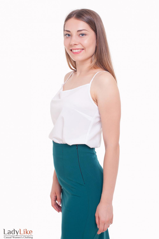 Майка белая Деловая женская одежда фото