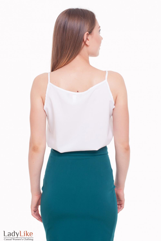 Легкий белый топ Деловая женская одежда фото