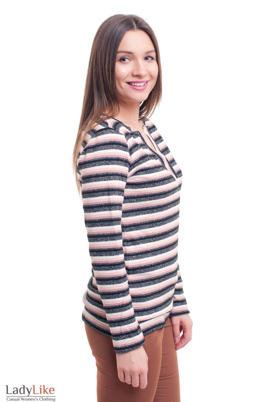 Купить тунику полосатую с люрексом Деловая женская одежда фото