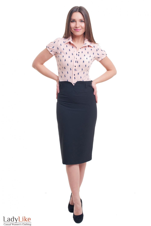 Купить юбку с заокругленным поясом Деловая женская одежда фото