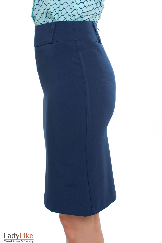 Юбка синяя Деловая женская одежда фото