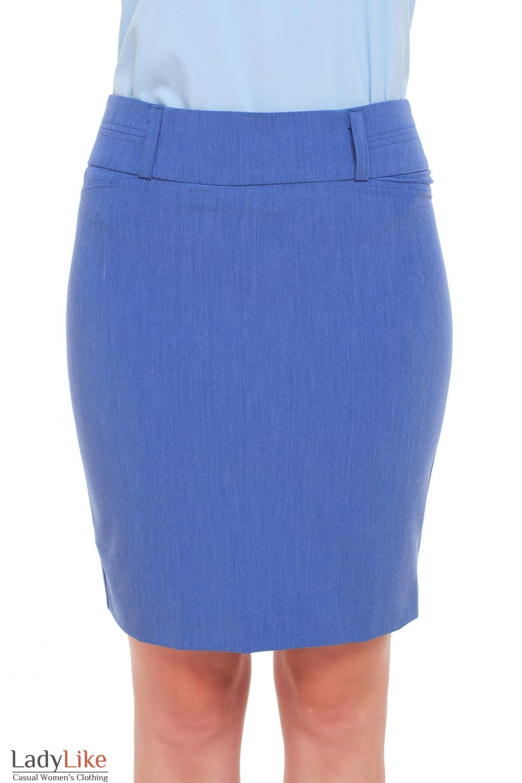 Юбка под джинс со складочкой Деловая женская одежда фото