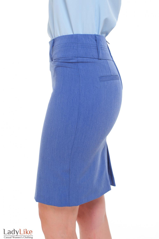 Юбка голубая Деловая женская одежда фото