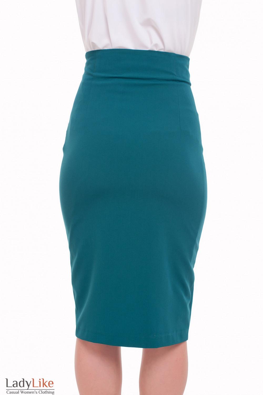 Юбка-карандаш зеленая Деловая женская одежда фото