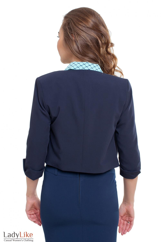 Короткий жакет Деловая женская одежда фото