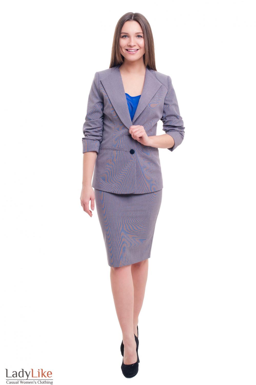 Купить костюм в сине-красную лапку Деловая женская одежда фото