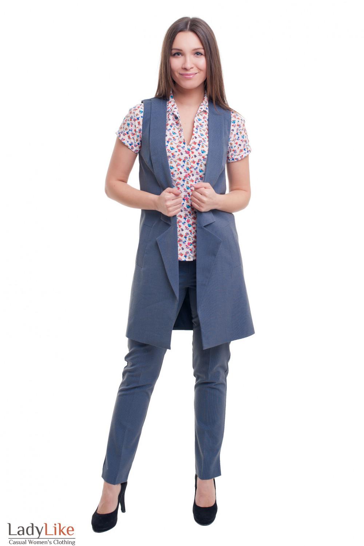 Купить костюм с длинной жилеткой Деловая женская одежда фото