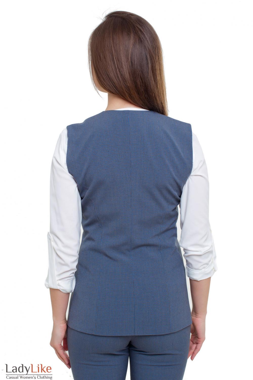 Жилетка синяя Деловая женская одежда фото