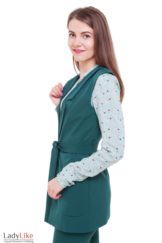 Жилетка с карманами Деловая женская одежда фото