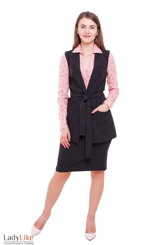 Черный костюм Деловая женская одежда фото