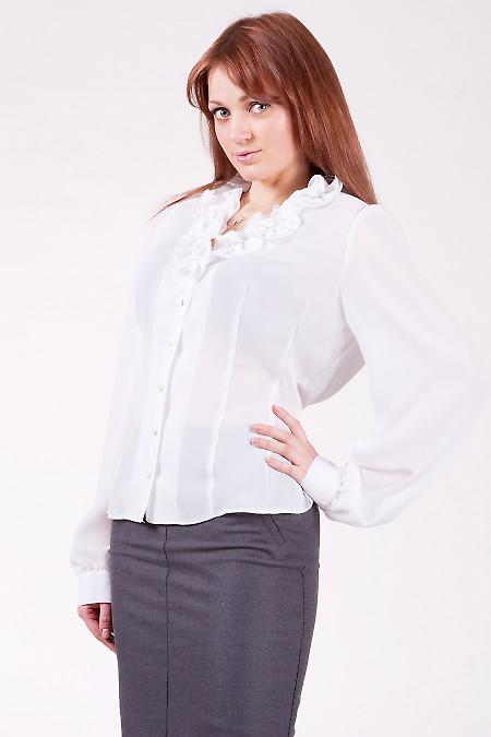 Блуза 202w Из тонкого шифона.  V-образный вырез