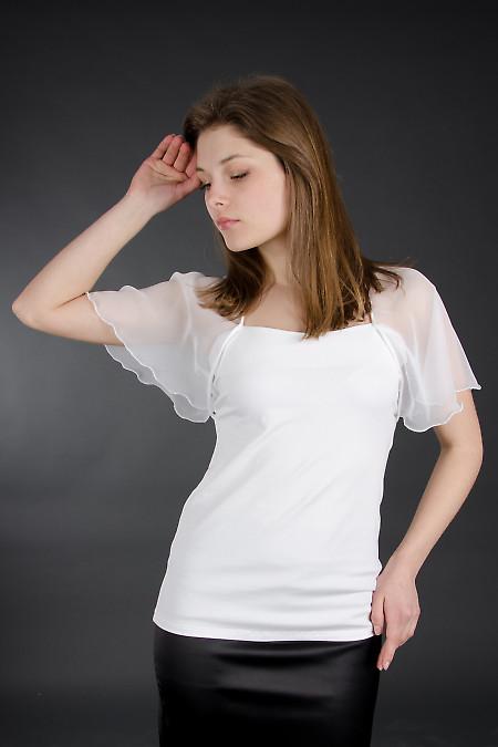 Блузка белая с крыльями. Деловая женская одежда