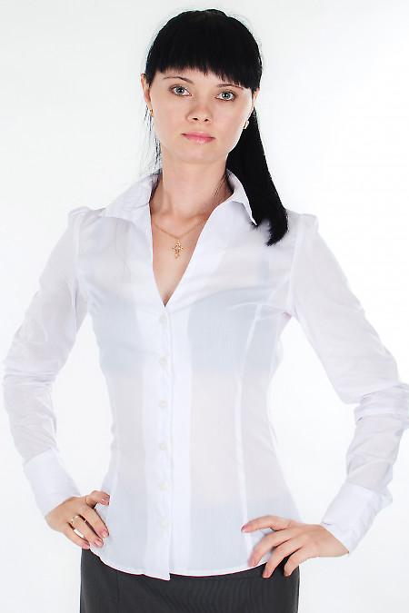 Блузка классическая белая  Деловая женская одежда