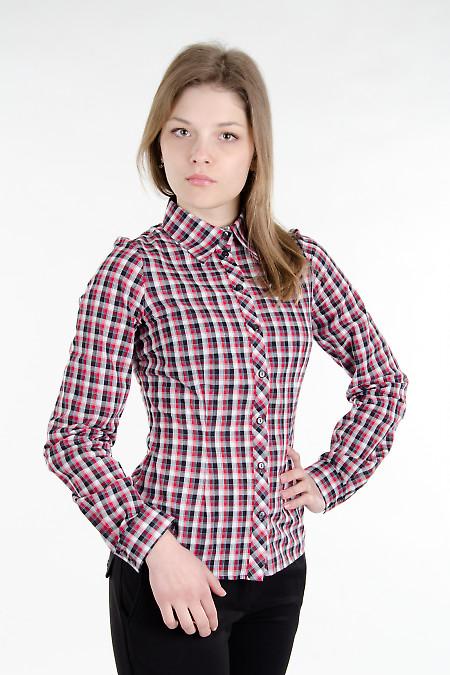 Блузка классическая красная Деловая женская одежда