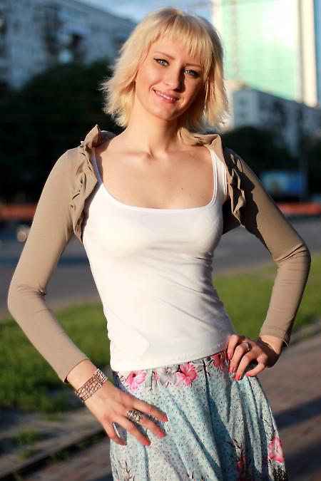 Болеро кофейное Деловая женская одежда