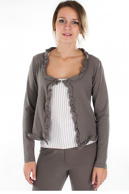 Болеро темно-коричневое Деловая женская одежда