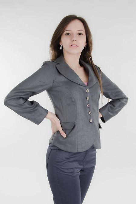 Брюки синие зауженые Деловая женская одежда