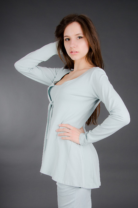 Кардиган бледно-голубой Деловая женская одежда