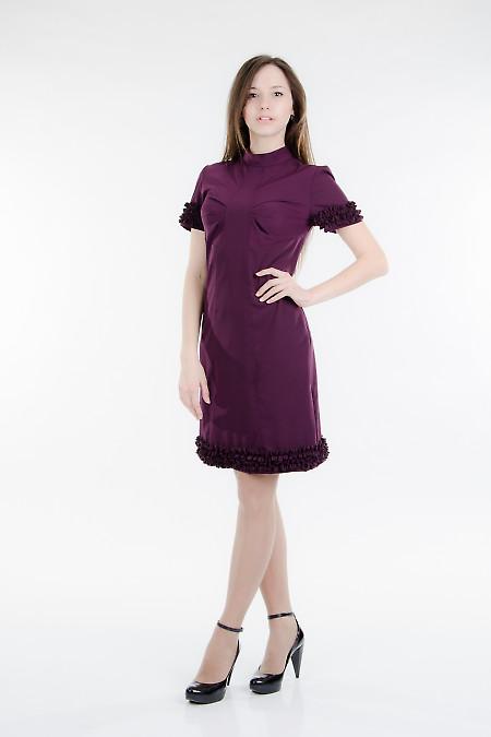 Платье приталенное с рюшами Деловая женская одежда