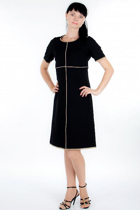 Платье черное трикотажное Деловая женская одежда