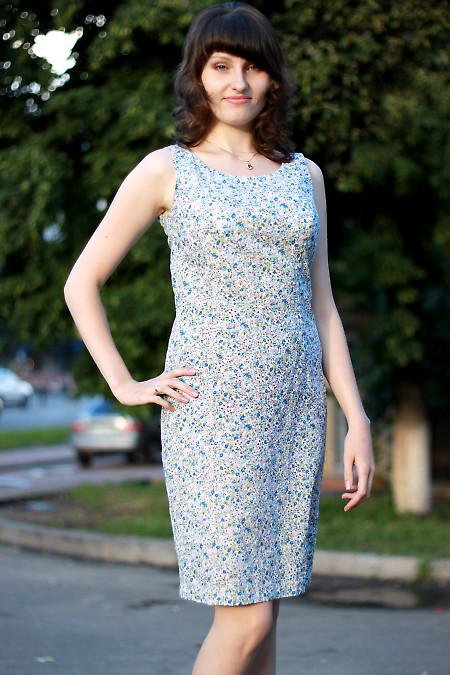 Платье летнее цветное Деловая женская одежда
