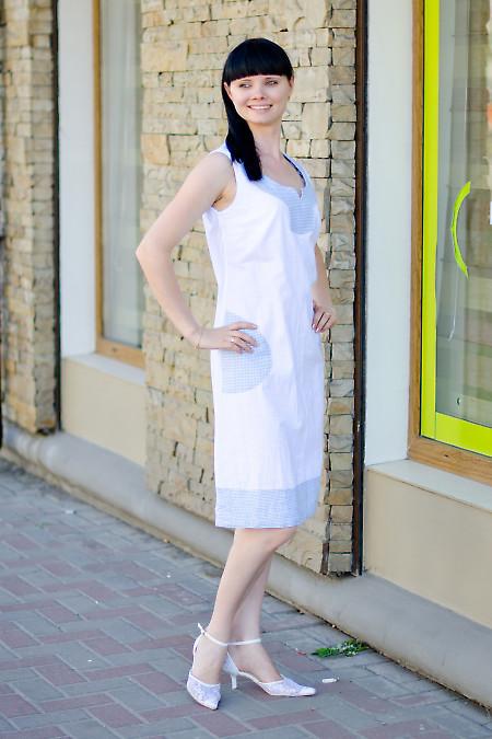 Платье льняное белое Деловая женская одежда