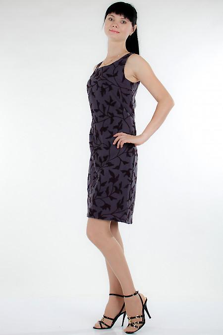Сарафан серый теплый Деловая женская одежда