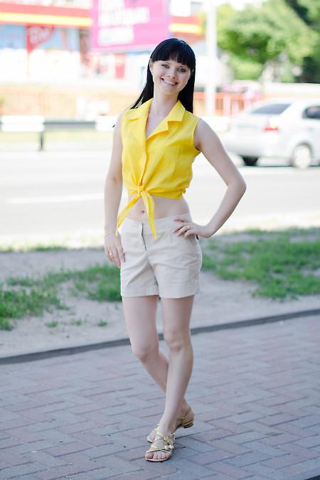 Шорты бежевые Деловая женская одежда